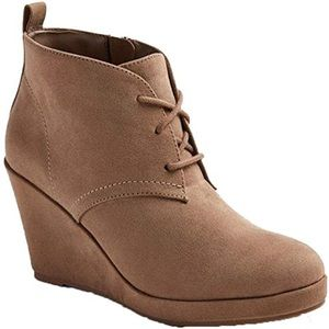 Dolce Vita Terri Lace Up Wedge Booties